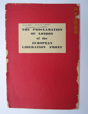 The Proclamation of London of The European Liberation Front