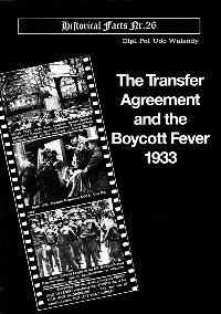 Transfer Agreement and Boycott Fever of 1933