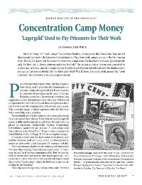 Concentration Camp Money