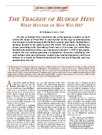 The Tragedy of Rudolf Hess
