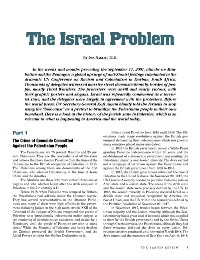 The Israel Problem