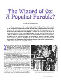 the wizard of oz parable on populism essay