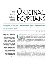 The Racial Makeup of the Original Egyptians