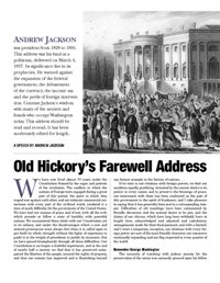 Old Hickory's Farewell Address