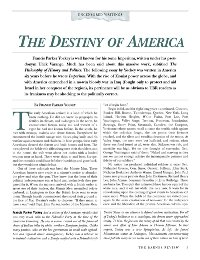 The Destiny of America