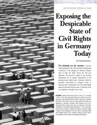 Exposing the Despicable State of Civil Rights in Germany Today