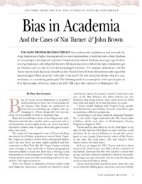 Bias in Academia and the Cases of Nat Turner & John Brown