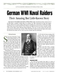 German WWI Naval Raiders