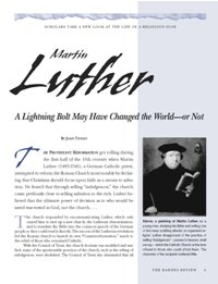 Martin Luther: A Lightning Bolt May Have Changed the World—or Not