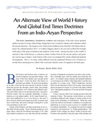 An Alternate View of World History And Global End Times Doctrines From an Indo-Aryan Perspective