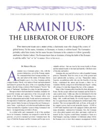 Arminius: The Liberator of Europe