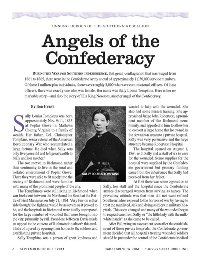 Unsung Heroes of the Southern Rebellion: Angels of the Confederacy