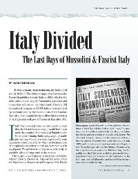 Italy Divided, by Joaquin Bochaca