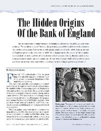 The Hidden Origins of the Bank of England, by Stephen Goodson